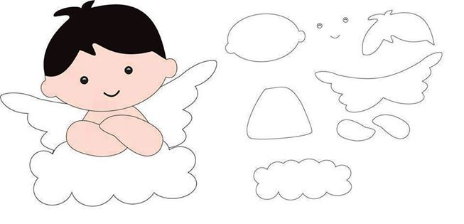 angelito boy angel felt pattern ideas design craft diy