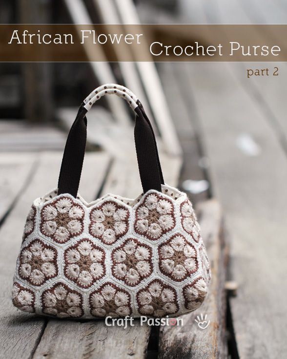 African Flower Crochet Purse