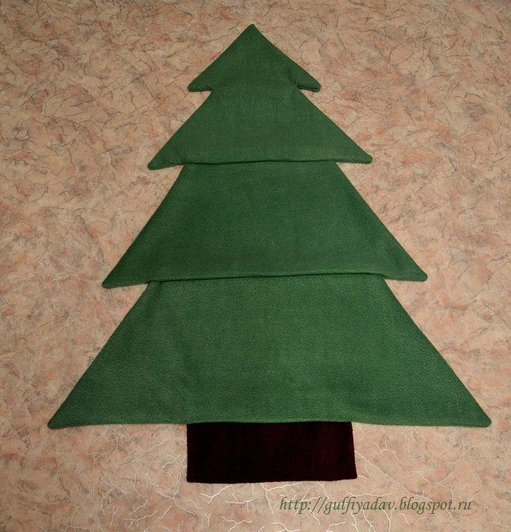 елка из флиса, новогодняя елка, елка своими руками, новогодняя игрушка, флис, игрушка из флиса,елка-развивайка