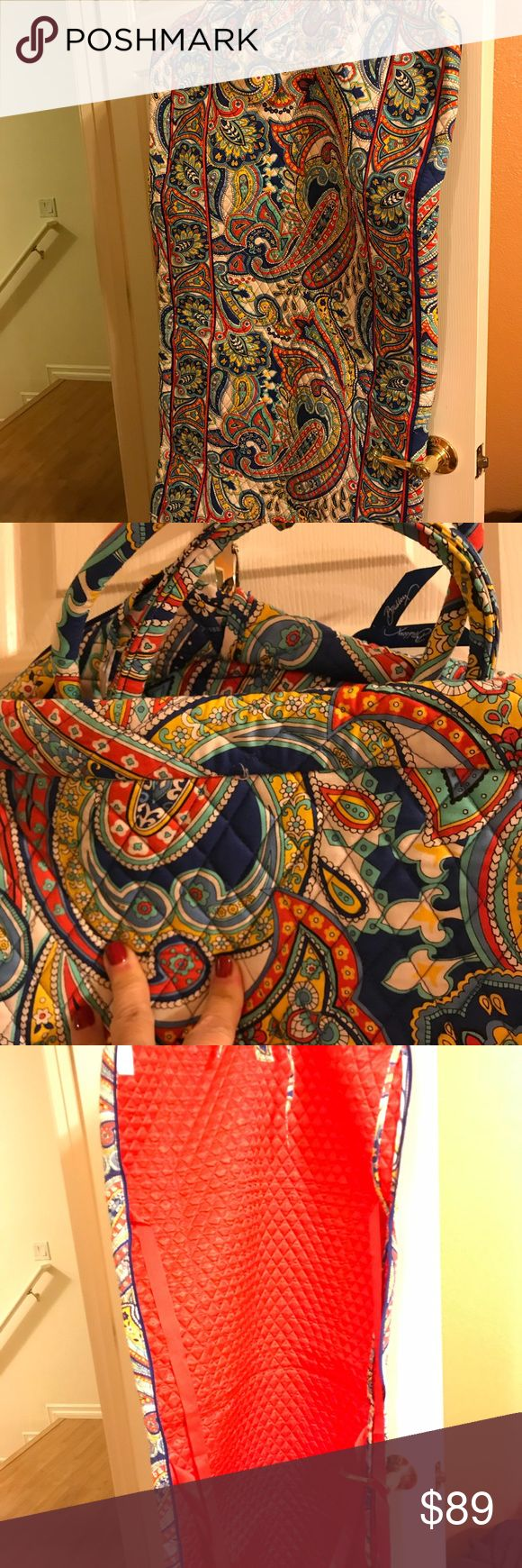 Vera Bradley garment bag. Never been used. Marina paisley Vera Bradley garment bag. Never been use. Retired style.  Not included in any bundle sale. Vera Bradley Accessories