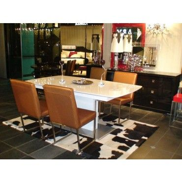 Tavolo Aa818 White High Gloss Modern Dining Table By Armani Xavira