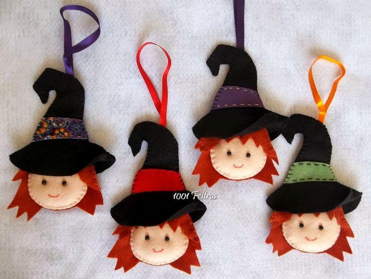 Aqui esta o restante da decoração para festinha no tema Halloween!!     Foram vários pingentinhos, todos quatro unidades de cada: abóbor...