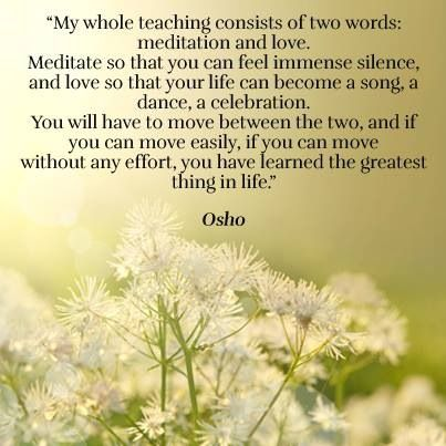 Osho Inspirational quotes for joy, peace, happiness, love and inspired living. self-care self-love self-help self-improvement meditation