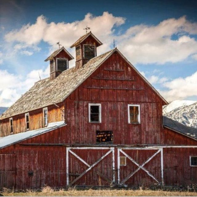 One of the oldest barns in the Bitterroot Valley of Montana