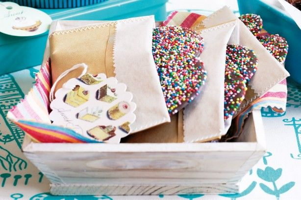 Your next fundraising event will be a success with these giant chocolate freckles.