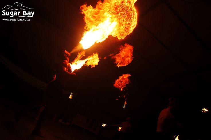 Flaming fire shows at Sugar Bay!