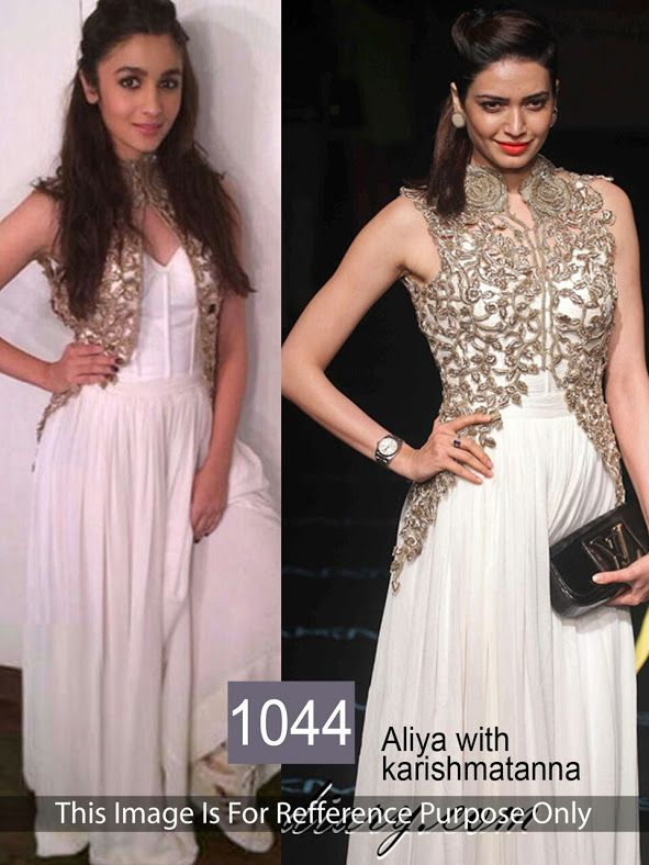 Alia Bhatt Replica White Salwar Suit From Skysarees