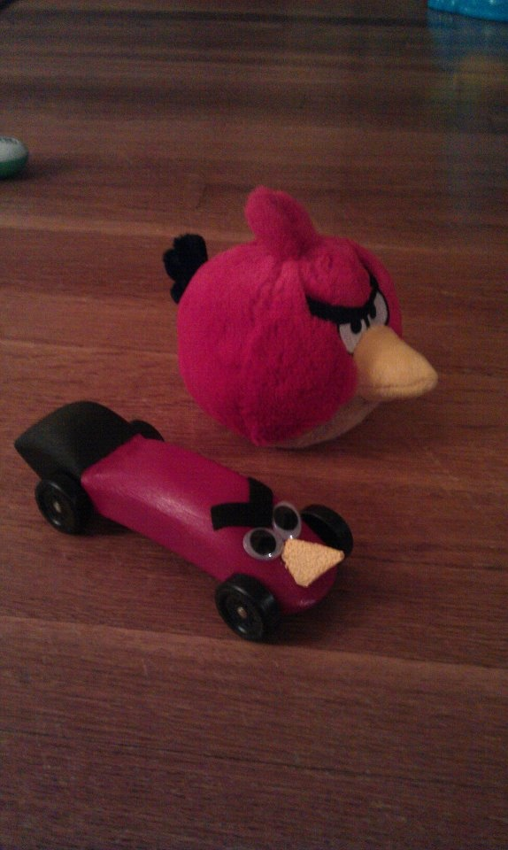 Angry Bird Pinewood Derby Car