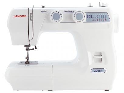 Máquina de Costura Janome 2008P - 14 Pontos Portátil com as melhores condições você encontra no Magazine Tonyroma. Confira!