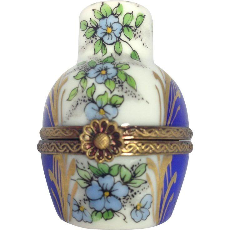 RARE Limoges Urn Trinket Box with Perfume Bottle