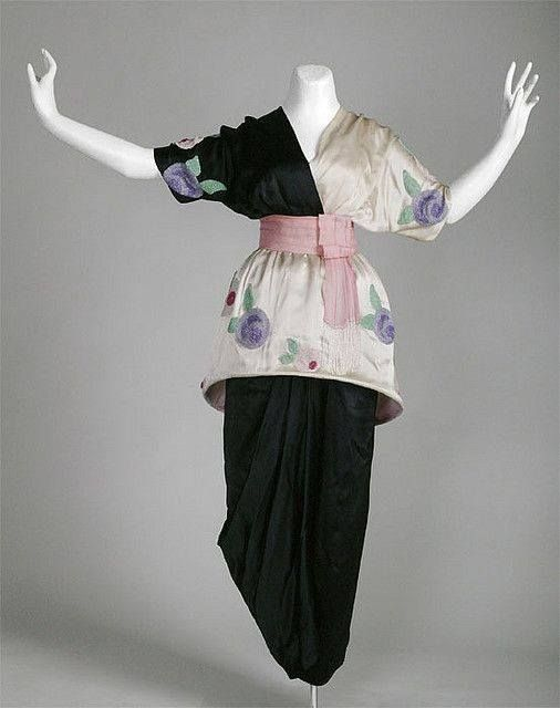 """Sorbet dress,"" ""Lampshade Tunic,"" or ""Minaret"" dress by Paul Poiret 1913"