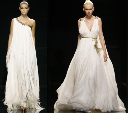 novias con inspiración en la mitología griega