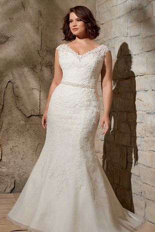 you would look beautiful in this! Alencon Lace Appliques On Net With Crystal Beading, Mori Lee by Madeline Gardner Julietta Collection