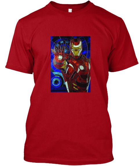 Stain Glass Hero #1 Deep Red T-Shirt Front