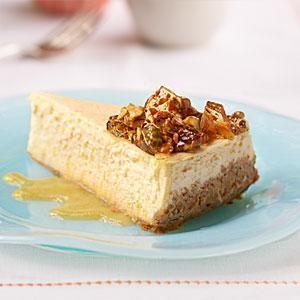 Cheesecake with nectarines