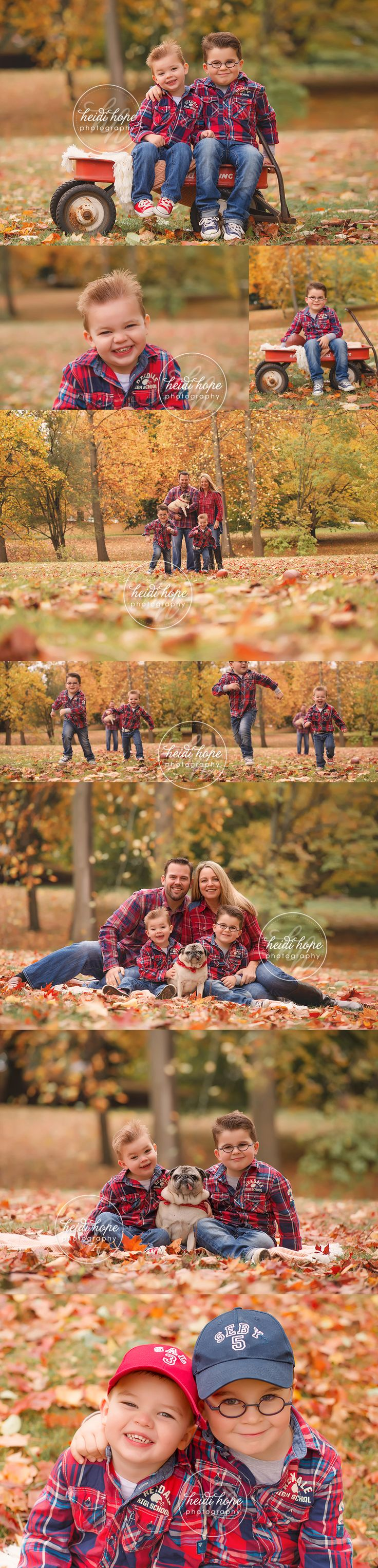 newengland fall family photo session with autumn foliage