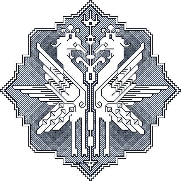 medallion with 2 birds