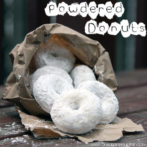 Classic Powdered Doughnut Recipe - On Sugar Mountain