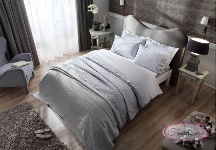Свадебный набор - Постельное бельё с покрывалом и полотенцами ТАС Avon gri