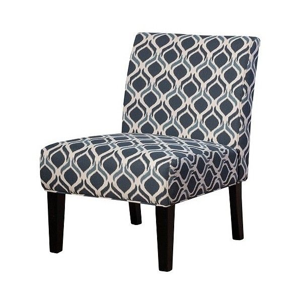 Saloon Fabric Print Accent Chair ($160) ❤ liked on Polyvore featuring home, furniture, chairs, accent chairs, blue, upholstered chair, patterned chairs, upholstered furniture, christopher knight home and patterned accent chairs