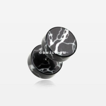 A Pair of Lightning Thunder Acrylic Fake Plug Earring