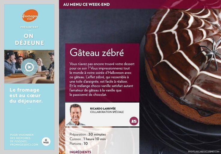 Gâteau zébré - La Presse+