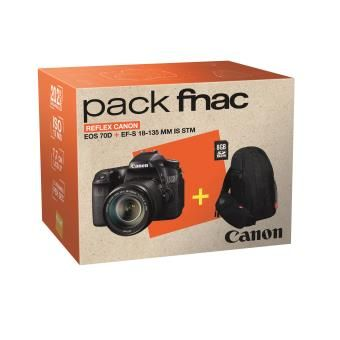 Pack Fnac Reflex Canon EOS 70D WiFi intégré + EF-S 18 - 135 mm  f/3.5 - 5.6 IS STM + Fourre-tout + Carte SDHC 8 Go