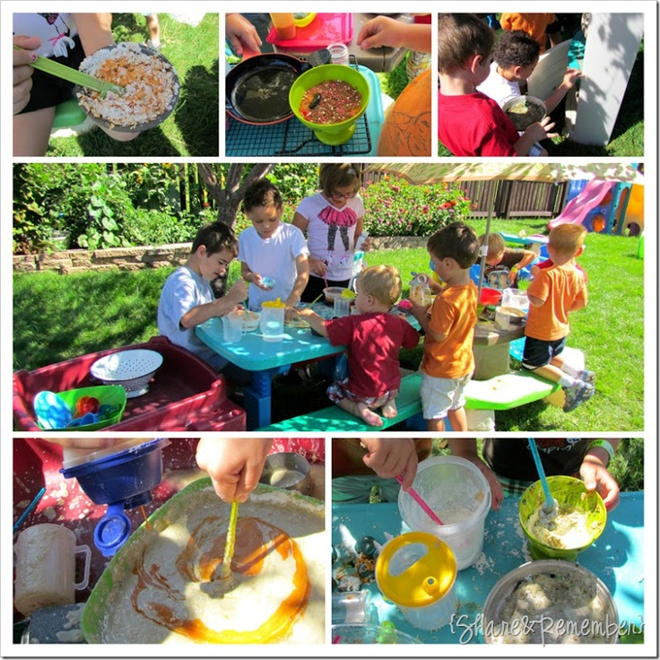 Outdoor Play Kitchen - Messy Fun!