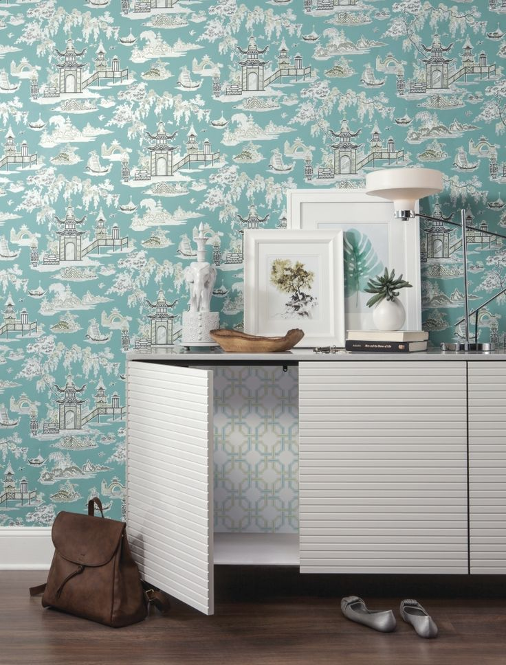Waverly Waverly designer wallpaper available at DaVillDecor.com! Don't forget to check out our sister website DaVillBlinds.com for all of your window covering needs.