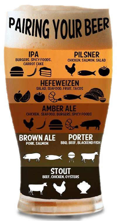 How to Pair Beer with Food - IPA, Pilsner, Ale, Porter & Stout
