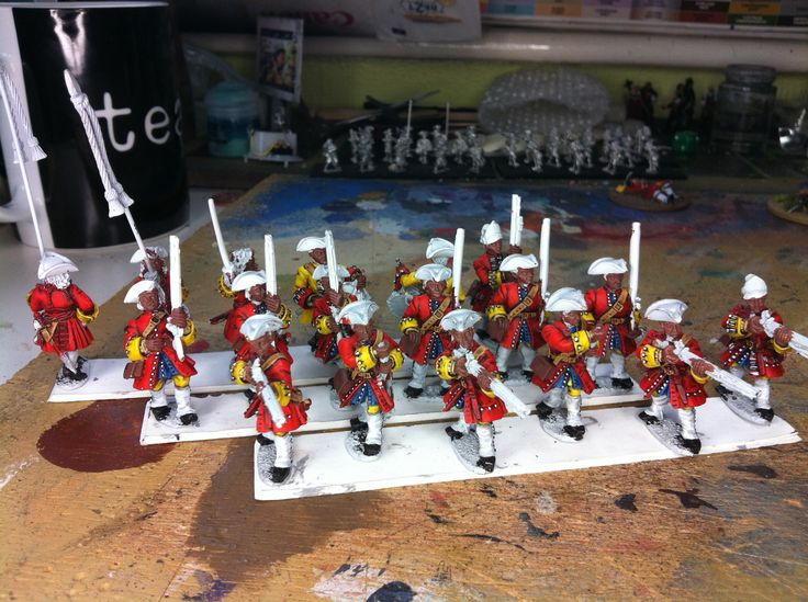 28mm War of Spanish Succession British 10th Foot (Front Rank miniatures)