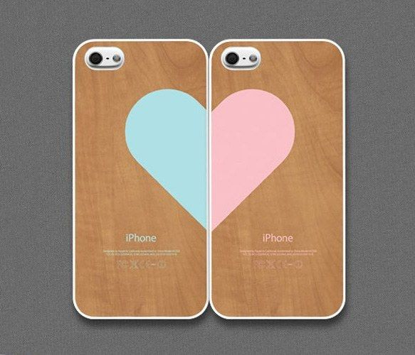 Very cute but don't reckon Rob would go for one of these...iphone couple cases