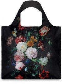 LOQI / museum| de Heem: Martwa natura z kwiatami w szklanym wazonie. Trwała siatka na zakupy