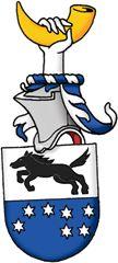 SV-49 Jan Axel Nordlander, Solna  Registrerat 2009-02-17.   (Ansökan 2007:65)       Sköld: Delad i silver, vari en svart häst i språng, och blått, vari sju sexuddiga stjärnor av silver ordnade som stjärnbilden Karlavagnen.       Hjälmtäcke: Blått fodrat med silver.       Hjälmprydnad: En hand av silver hållande ett horn av guld.