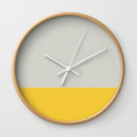 Grey and Yellow Dip Wall Clock
