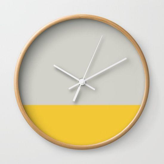 Grey and Yellow Dip Wall Clock