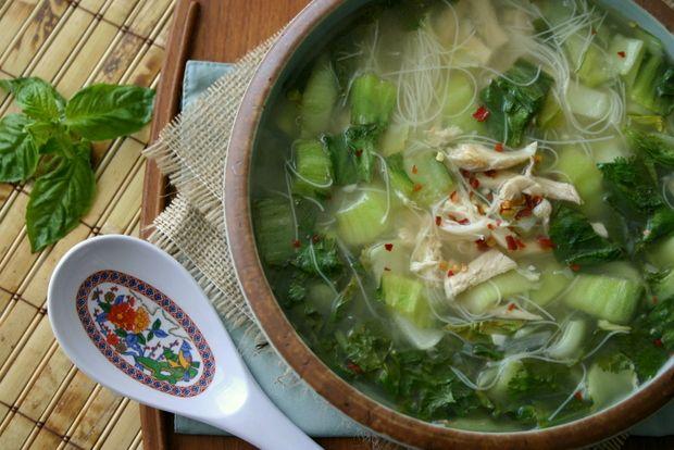 Spring Thai Chicken Noodle Soup  5 Points Plus Per Serving - Serves 4