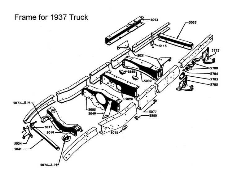 truck frame diagrams