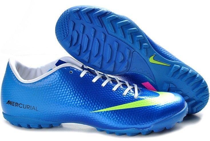 buy popular 35035 ac0af ... Nike Mercurial Vapor IX TF Mens Astro Turf Soccer Shoes(Bright Blue  Volt Pink) ...
