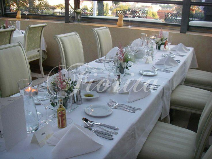 A simple table arrangement in Villa Richter restaurant near the Prague Castle