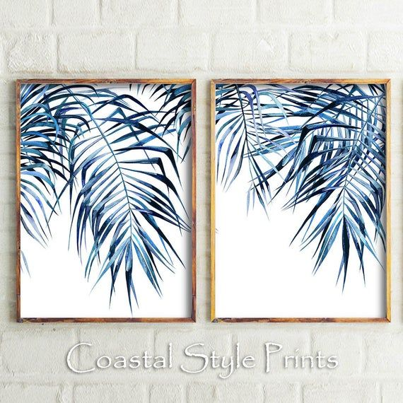 Tropical Wall Art Modern Wall Art Palm Leaf Print Wall Art Etsy In 2020 Etsy Wall Art Tropical Wall Art Geometric Wall Art