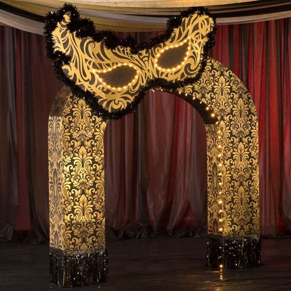 Masquerade Ball Wedding Ideas: 9 Ft. 5 In. Midnight Masquerade Arch
