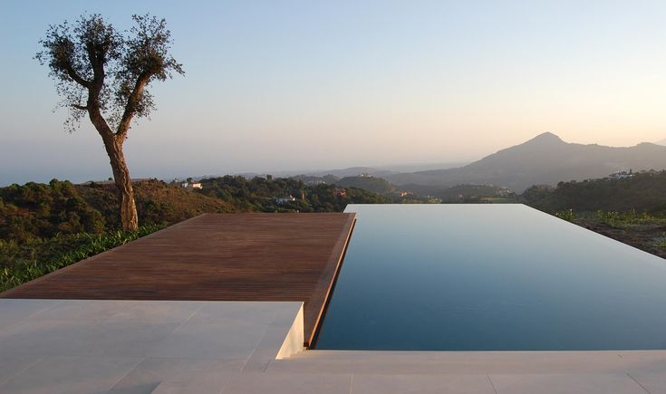 An infinity pool in the desert looks like an azure oasis.  (McLean Quinlan House. Andalucia)