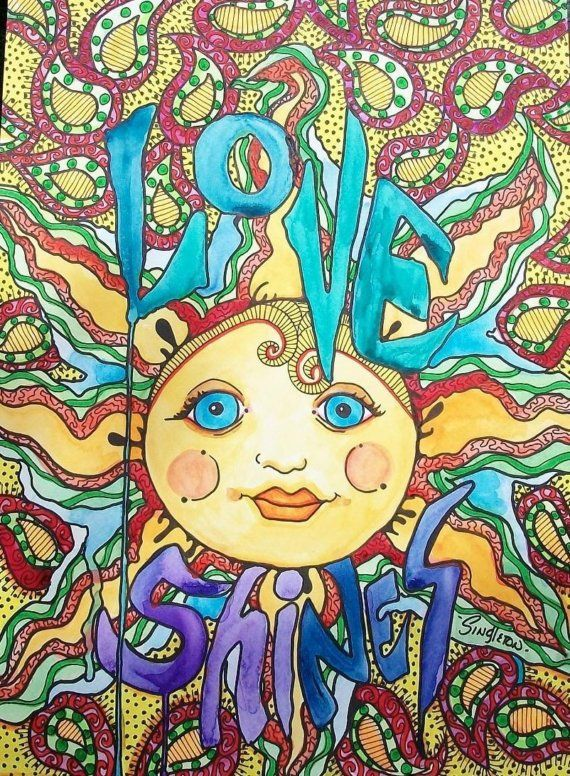 ☮ American Hippie Art ☮ Sun .. Singleton - Love Shines
