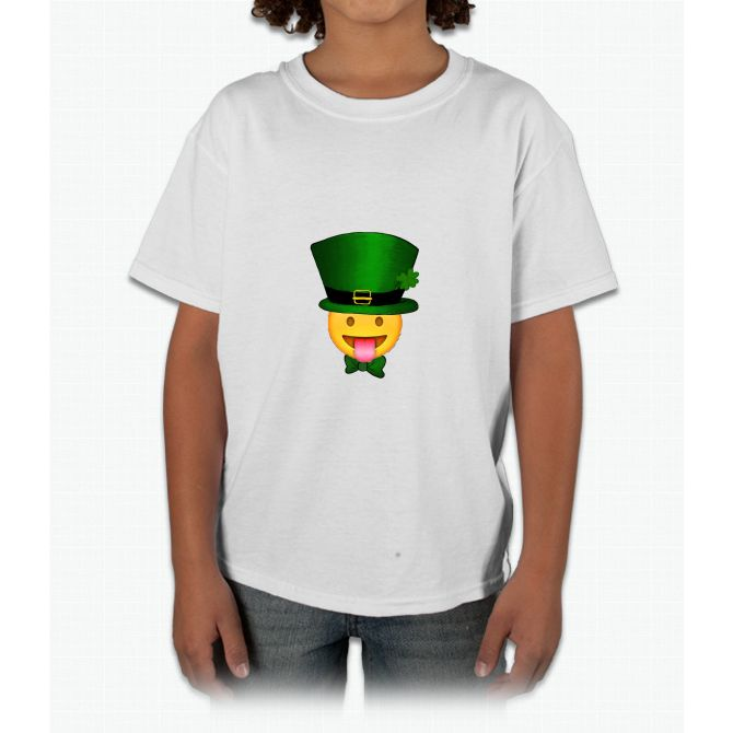 Tongue emoji leprechaun Young T-Shirt