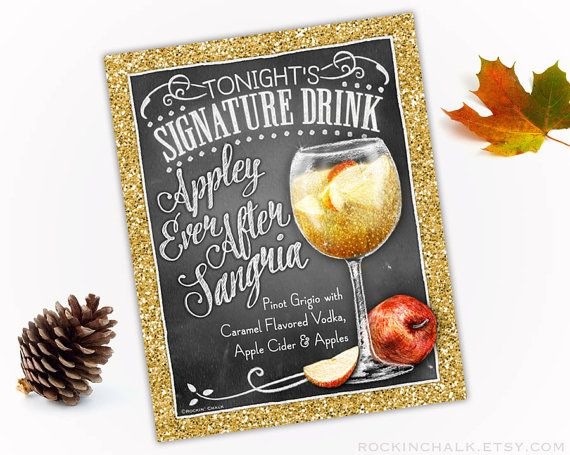 Fall Wedding Decoration Signature Drink Sign by RockinChalk