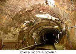 Bologna, Canale Aposa, Ponte Romano sotterraneo