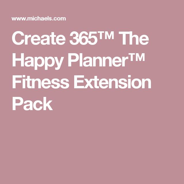 Create 365™ The Happy Planner™ Fitness Extension Pack