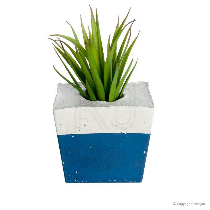 Square Concrete Planter - Navy | $54.95