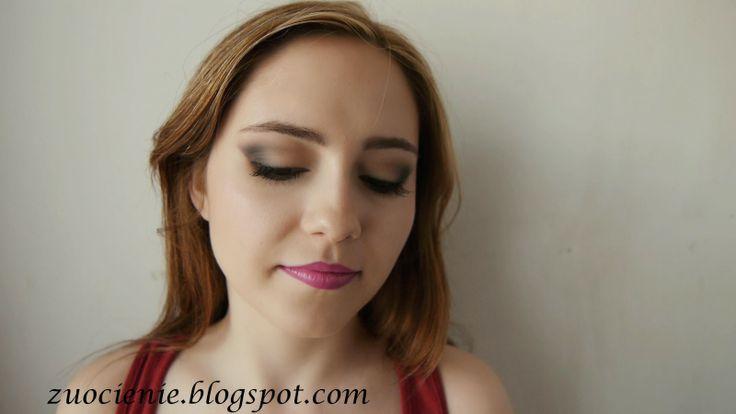 ombre lips plus simple brown smokey eye